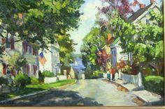 """Ken Knowles, b. 1968  """"Looking Down Mr. Pleasant St."""""""