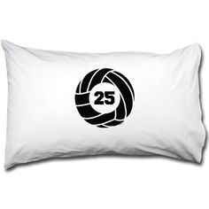 Volleyball Pillowcase Volleyball With Number | Volleyball Pillowcases | Volleyball Room Decor | Pillowcases for Volleyball Players