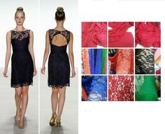 Black Lace Bridesmaid Dress, Plum, Blue, Pink and Green available on Etsy, $95.00
