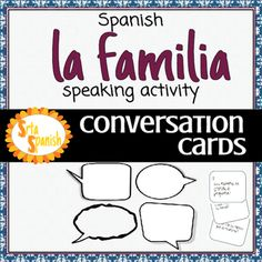 Question cards to help your students start some conversations and practice family vocabulary, ages, & adjectives! There are 24 cards included, as well as a blank template for you to add any of your own (or have students create some!). Please check out the preview for many ideas on how you could use these in your classroom.