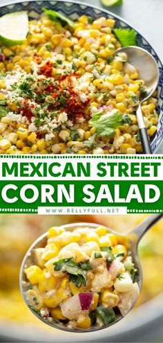 Potato Side Dishes, Best Side Dishes, Vegetable Side Dishes, Side Dish Recipes, Corn Salad Recipes, Corn Salads, Appetizer Recipes, Healthy Vegetable Recipes, Healthy Salad Recipes