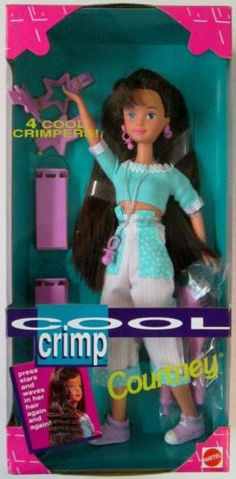 1993 Cool Crimp Courtney Doll Friend of Skipper Sister of Barbie New | eBay