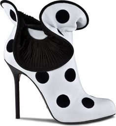 Sergio Rossi polka dot shoes