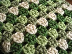 Crochet granny square baby afghan shades of by ArrayOfCrochet