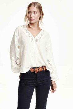 Blusa de algodón con bordado