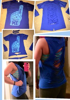 DIY Workout shirt. I did this myself... Took a while so I didn't mess it up.