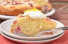 Coconut Rhubarb Cake