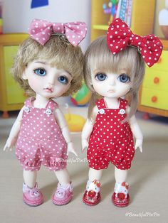 Lati yellow / Pukifee  Red  Polka dot overall by BeautifulPinPin, $17.00
