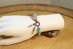 Boho Celtic Horse Bracelet Celtic Sea Turquoise by OHineKnotwork