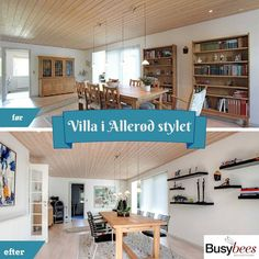 House in Denmark - before and after home staging. Staged by Busy Bees.
