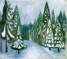 Edvard Munch, Nieve nueva, 1900-1. Óleo sobre lienzo, 72 x 82 cm, Museo Munch, Oslo