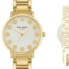 Kate spade new York watch Brand new.  Gramercy dot dial bracelet watch.  15 mm band width.  34 mm case  adjustable bracelet kate spade Accessories Watches