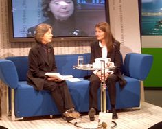 Ulla Hahn auf dem Blauen Sofa