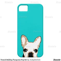 French Bulldog Turquoise Pop Art iPhone 5 Cover - Jan 4 2016