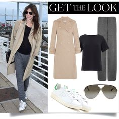 Charlotte Gainsbourg at Cannes by theinfluence on Polyvore featuring Theory, Title A, adidas, Edun and Balenciaga