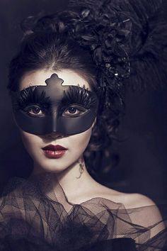 Masquerade goth gothic fashion  style black women lady girl women…