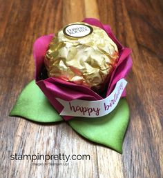 ORDER STAMPIN' UP! ON-LINE. New specials for August & clearance to 60%. Create Ferrero Rocher Roses with Stampin' Up! products.