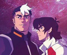 Keith and Shiro from Voltron Legendary Defender