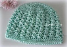 Crochet baby hat, size 3-6 months