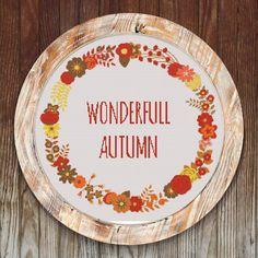 Wonderfull Autumn Modern Cross Stitch Pattern Wearth // Instant PDF Download