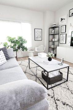 Black & White Living Room | Decorating I Love