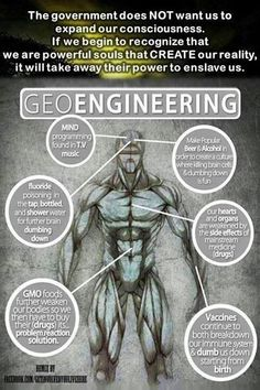 Suppression of Consciousness - Geoengineering - The Agenda Terre Plate, Question Everything, Conspiracy Theories, History Facts, Strange History, Consciousness, Wake Up, Fun Facts, Weird Facts