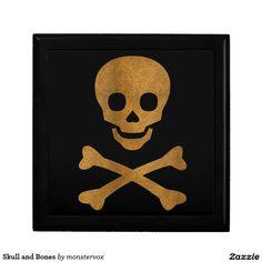 Skull and Bones Jewelry Box #Skull #Skeleton #Holiday #Halloween #Keepsake #Trinket #Jewelry #Gift #Box
