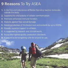 9 Reasons to try ASEA!  To Learn More About #ASEA - http://ouramazingmolecules.com/  #redoxsupplement #healthsupplement