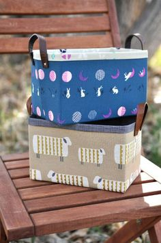 "(9) Name: 'Sewing : Sturdy Fabric Basket--8"" wide x 5"" high x 5"" deep--in Craftsy My Projects"