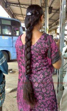 Bilderesultat for thick braid Indian Long Hair Braid, Long Hair Ponytail, Bun Hairstyles For Long Hair, Braids For Long Hair, Indian Hairstyles, Braided Hairstyles, Beautiful Braids, Beautiful Long Hair, Beautiful Women