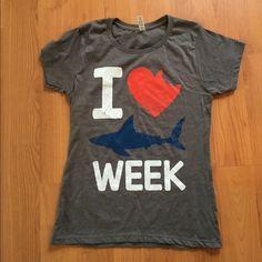 Shark week novelty top Where this tshirt while etching shark week! Groupon Tops Tees - Short Sleeve