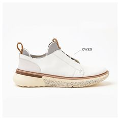 """Style Focus We're getting ready for our Spring/Summer '16 drop. New to the collection is Owen in white full grain leather, nubuck and hypo-allergenic…"""