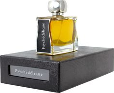 """Psychedelic: my great patchouli fragrance, dark and smoky, ambered, generous and opulent…Even the rain and mud of Woodstock won't wash it away.""  Head notes:  fresh hesperidium   Heart notes: floral rose, geranium, ambered, woody (patchouli, cistus, gum cistus)   Base notes: vanilla, musk"