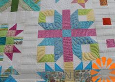 Piece N Quilt: A Sampler Quilt ~ Custom Machine Quilting by Natalia Bonner