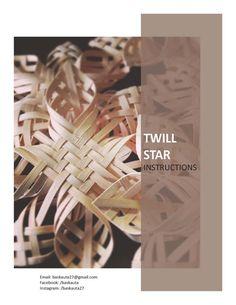 Woven Twill Star PDF digital instructions directions tutorial