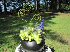 Halloween Centerpiece Witch's Cauldron by MimisVintageGoodies