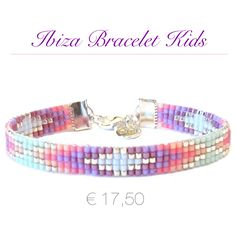 Beads bracelet for little girls. They just want to be like mom and feel like a lovely princes! ♡ www.noanora.nl