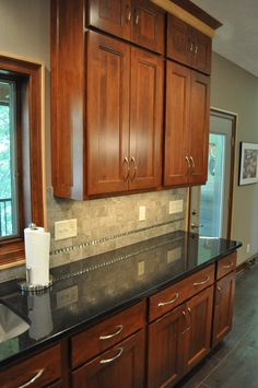 Kitchen backsplash design by Autumn Whittle of Nonn's Design Showplace.