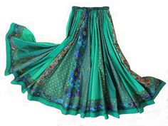 Long Panel Bohemian Patchwork Skirt by 1000Colors on Etsy Elastic around waist for a bigger woman