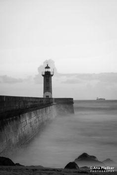 Incredibly pretty Foz lighthouse by Ana Flašker, via 500px