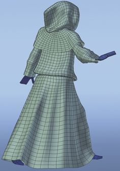 Create animation-ready clothing in Blender