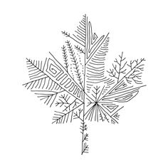 Free Canadian Maple Leaf Colouring Page by Donald Lee Line Art Tattoos, Body Art Tattoos, Small Tattoos, Cute Tattoos, Tattoo Sketches, Tattoo Drawings, Art Sketches, Leaf Coloring Page, Coloring Pages
