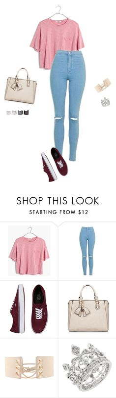 """Untitled #572"" by lifeoflucy ❤ liked on Polyvore featuring Madewell, Topshop, Vans, HaveBest and Luv Aj"
