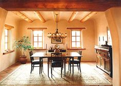 Google Image Result for http://www.centralinteriordesign.com/wp-content/uploads/2011/11/Southwest-Style-Decorating-A-classic-Dining-Room-with-a-plaster-cove-ceiling-Saltillo-Tile-floors-and-plastered-walls.jpg