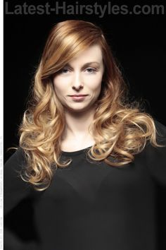 Golden Blonde Hair Color with Copper Hues, perfect hair.
