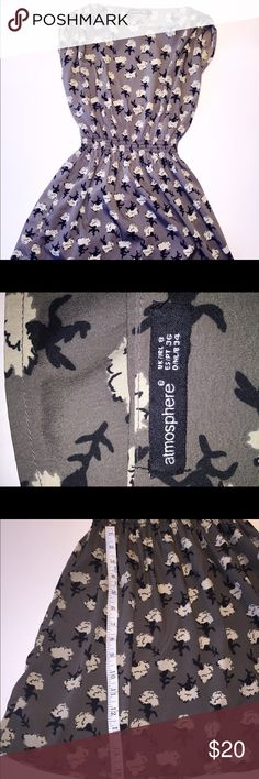 Atmosphere Mini Dress Gray printed mini dress UK 8 is US 6 Great Condition See pics for material and size/measurements Atmosphere Dresses Mini