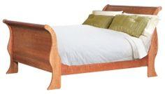 Classic Sleigh Bed   Natural Cherry Wood. Oak, Maple, Walnut Wood.