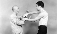 bruce lee. learning from Wing Chun Master Yip Man