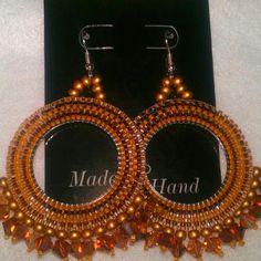 Seed bead brick stitch earrings