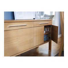 IKEA Quality furniture at affordable prices. Find everything from smart storage solutions, mattresses, textiles, wardrobes to kitchens & more. Buffet Cabinet, Swedish House, Sideboard Buffet, Light Oak, Affordable Furniture, Adjustable Shelving, Dining Area, Home Furnishings, Home Furniture